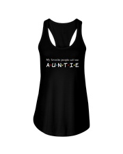 My Favourtie People Call Me Auntie Shirt Ladies Flowy Tank thumbnail
