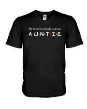 My Favourtie People Call Me Auntie Shirt V-Neck T-Shirt thumbnail