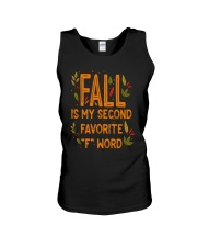 Fall Is My Second Favorite F Word Shirt Unisex Tank thumbnail