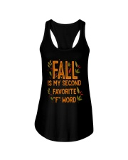 Fall Is My Second Favorite F Word Shirt Ladies Flowy Tank thumbnail