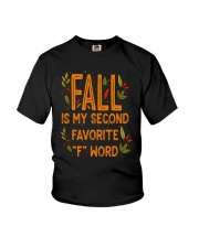 Fall Is My Second Favorite F Word Shirt Youth T-Shirt thumbnail