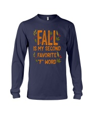 Fall Is My Second Favorite F Word Shirt Long Sleeve Tee thumbnail