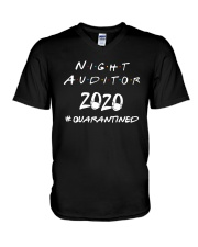 Night Auditor 2020 Quarantined Shirt V-Neck T-Shirt thumbnail