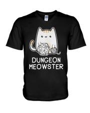 Cat Dungeon Meowster Shirt V-Neck T-Shirt thumbnail