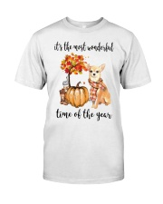 Chihuahua It's The Most Wonderful Time Year Shirt Classic T-Shirt front