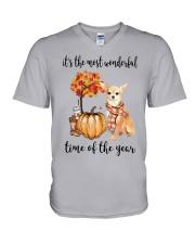 Chihuahua It's The Most Wonderful Time Year Shirt V-Neck T-Shirt thumbnail