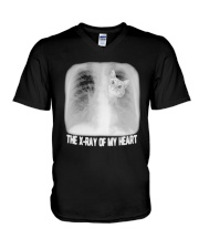Cat The X Ray Of My Heart Shirt V-Neck T-Shirt tile