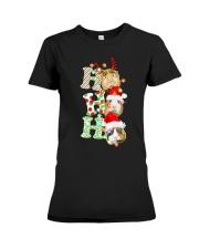 Christmas Guinea Pig Ho Ho Ho Shirt Premium Fit Ladies Tee thumbnail