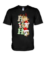 Christmas Guinea Pig Ho Ho Ho Shirt V-Neck T-Shirt thumbnail