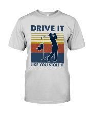 Vintage Golf Drive It Like You Stole It Shirt Premium Fit Mens Tee tile