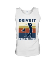 Vintage Golf Drive It Like You Stole It Shirt Unisex Tank thumbnail