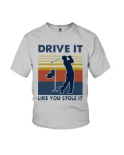 Vintage Golf Drive It Like You Stole It Shirt Youth T-Shirt thumbnail