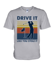 Vintage Golf Drive It Like You Stole It Shirt V-Neck T-Shirt thumbnail