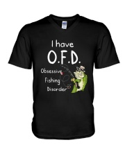 I Have Ofd Obsessive Fishing Disorder Shirt V-Neck T-Shirt tile