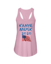 American Flag Kanye Musk 2020 Shirt Ladies Flowy Tank tile