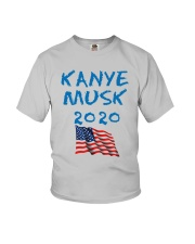 American Flag Kanye Musk 2020 Shirt Youth T-Shirt thumbnail