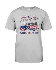 Pug Car America 4th Of July Shirt Classic T-Shirt tile