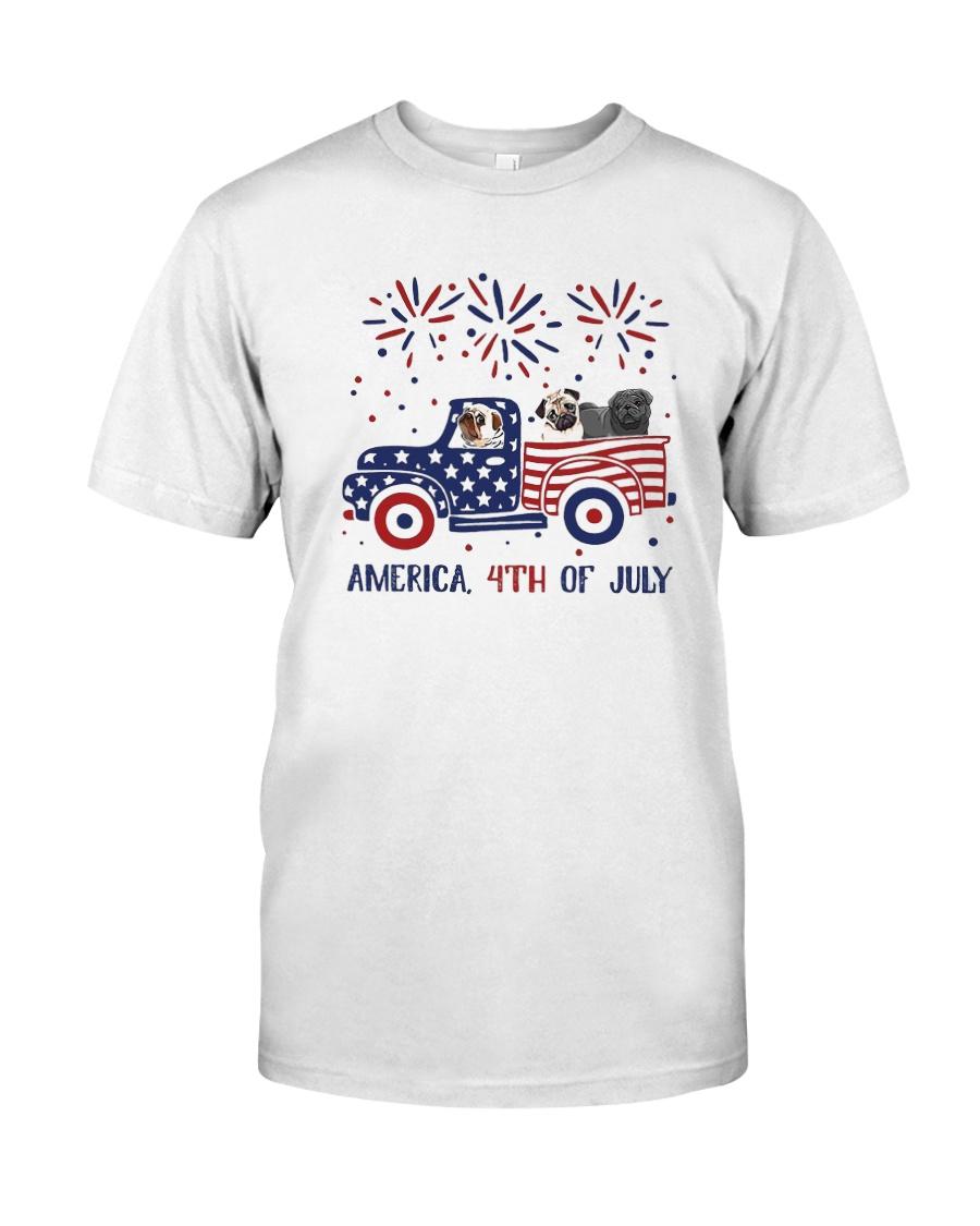 Pug Car America 4th Of July Shirt Classic T-Shirt
