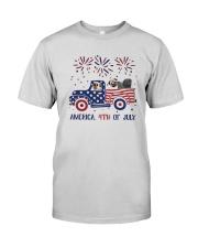 Pug Car America 4th Of July Shirt Premium Fit Mens Tee thumbnail