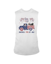 Pug Car America 4th Of July Shirt Sleeveless Tee thumbnail