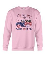 Pug Car America 4th Of July Shirt Crewneck Sweatshirt thumbnail