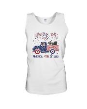 Pug Car America 4th Of July Shirt Unisex Tank thumbnail