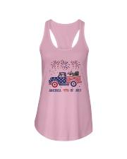 Pug Car America 4th Of July Shirt Ladies Flowy Tank thumbnail