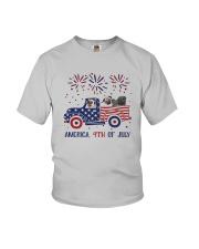 Pug Car America 4th Of July Shirt Youth T-Shirt thumbnail