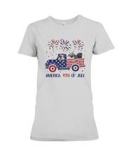 Pug Car America 4th Of July Shirt Premium Fit Ladies Tee thumbnail