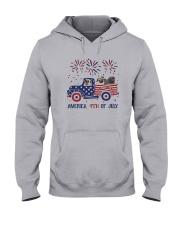 Pug Car America 4th Of July Shirt Hooded Sweatshirt thumbnail