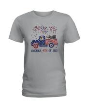 Pug Car America 4th Of July Shirt Ladies T-Shirt thumbnail