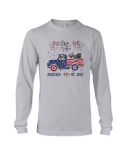 Pug Car America 4th Of July Shirt Long Sleeve Tee thumbnail