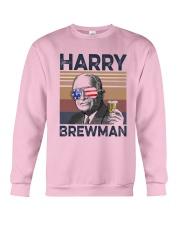 Vintage Drinking Beer Harry Brewman Shirt Crewneck Sweatshirt thumbnail