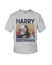 Vintage Drinking Beer Harry Brewman Shirt Youth T-Shirt thumbnail
