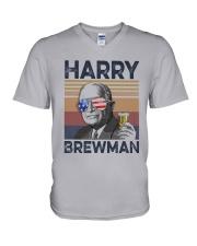 Vintage Drinking Beer Harry Brewman Shirt V-Neck T-Shirt thumbnail