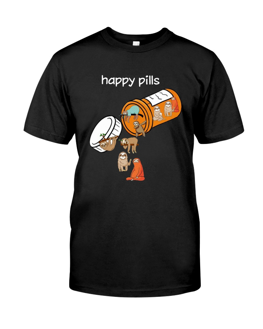 Sloths Happy Pills Shirt Premium Fit Mens Tee