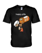 Sloths Happy Pills Shirt V-Neck T-Shirt thumbnail