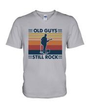 Vintage Old Guys Still Rock Shirt V-Neck T-Shirt thumbnail