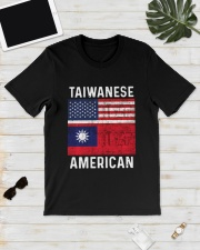 Flag Taiwanese American Shirt Classic T-Shirt lifestyle-mens-crewneck-front-17
