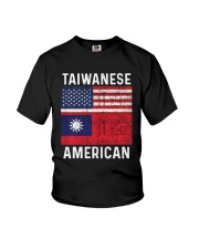 Flag Taiwanese American Shirt Youth T-Shirt tile