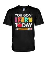 Apple Pencil You Gon Learn Today Shirt V-Neck T-Shirt thumbnail