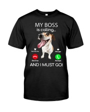 Russell Terrier My Boss Is Calling And I Shirt Classic T-Shirt tile