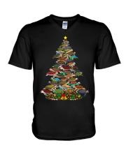 Turtle Christmas Tree Shirt V-Neck T-Shirt thumbnail