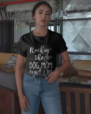 Rockin The Dog Mom And Aunt Life Shirt Classic T-Shirt apparel-classic-tshirt-lifestyle-05