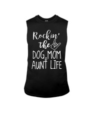 Rockin The Dog Mom And Aunt Life Shirt Sleeveless Tee tile