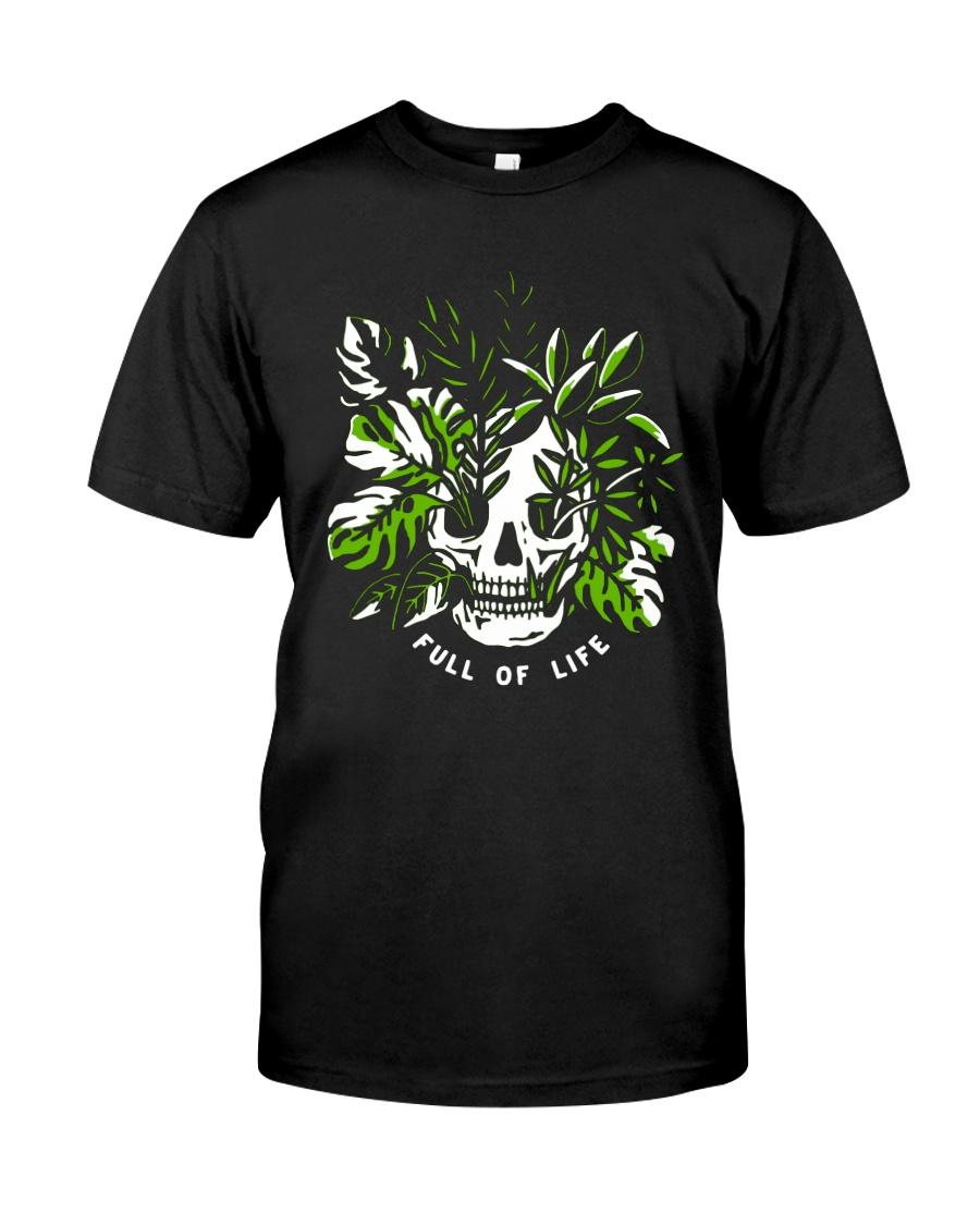 Skull Full Of Life Shirt Classic T-Shirt