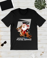 Santa Riding Deer United States Postal Shirt Classic T-Shirt lifestyle-mens-crewneck-front-17