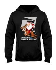 Santa Riding Deer United States Postal Shirt Hooded Sweatshirt thumbnail