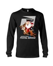 Santa Riding Deer United States Postal Shirt Long Sleeve Tee thumbnail
