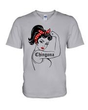 Strong Women Chingona Shirt V-Neck T-Shirt thumbnail